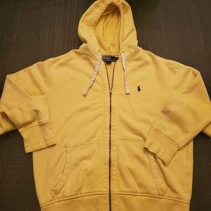 Polo by Ralph Lauren yellow zip hoodie